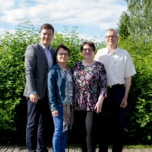 Valtuustojen puheenjohtajat, vasemmalta oikealle: Tuomas Kettunen Erja Helttunen Maarit Rauhala Pentti Moilanen